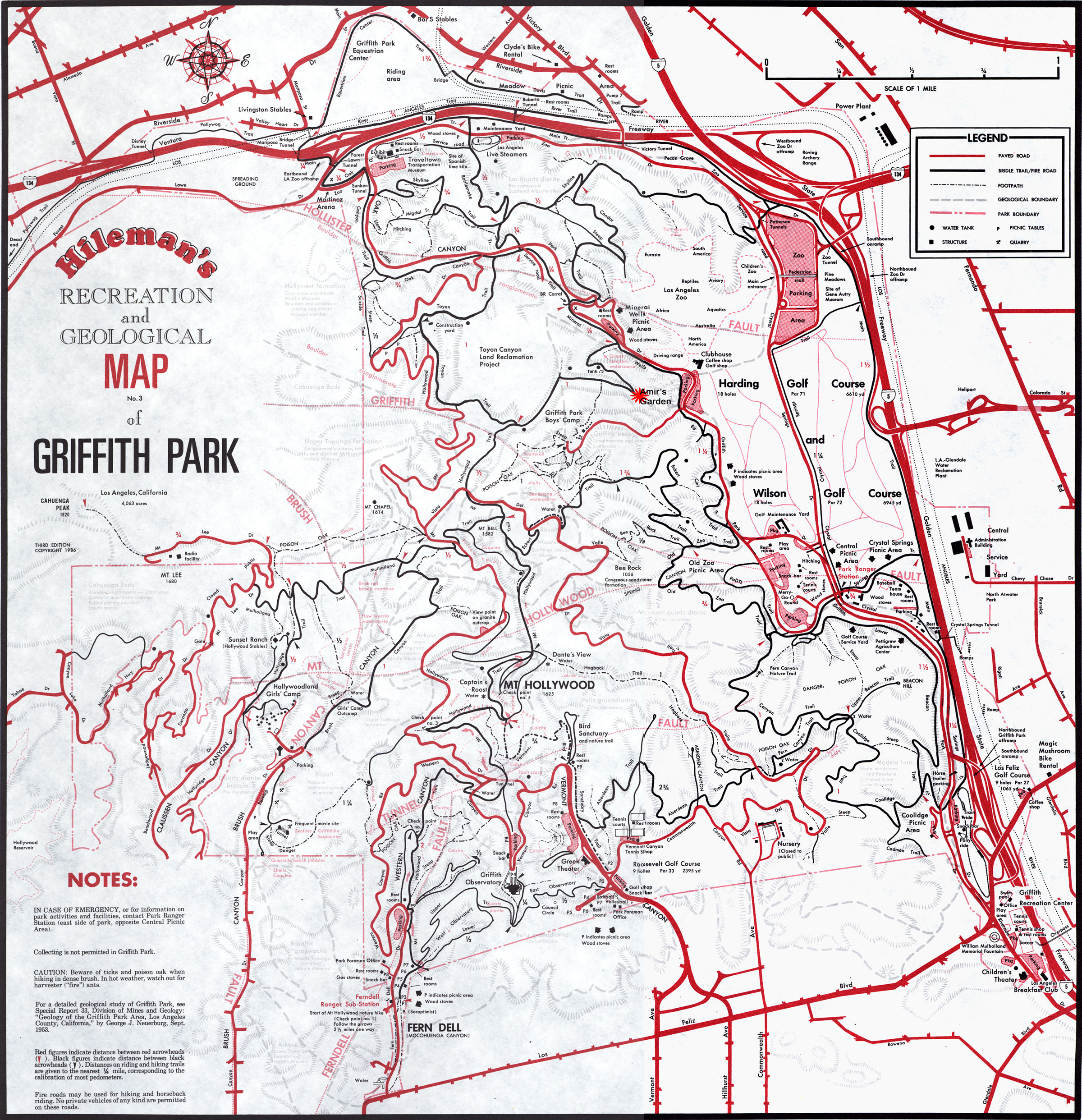 griffith park map - Amirs Garden